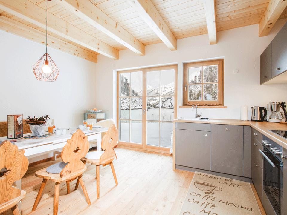 Blick Richtung Essen und Küche im Haus 162